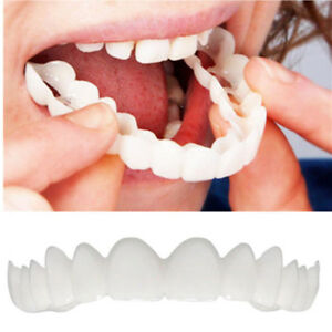 Smile Teeth Cosmetic Veneers Dentistry Snap On Comfort Covers Fix One Size White