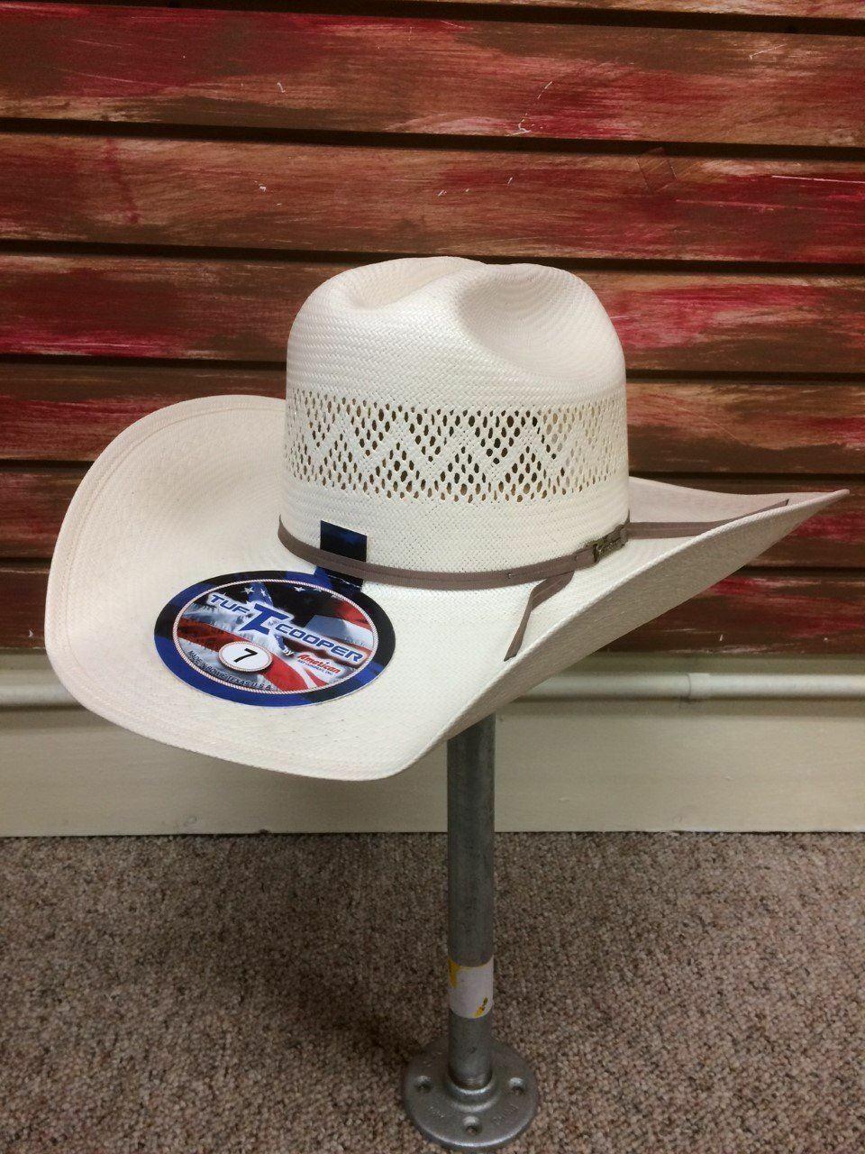 American Hat Tuf Cooper Rancher Straw Cowboy  Hat TC8890  comfortable