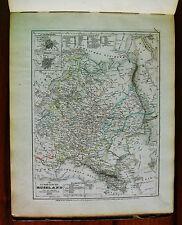 1849 MEYER'S ZEITUNGS-ATLAS=MAPPA GEOGRAFICA.RUSSIA EUROPEA,St.PETERSBURG.ETNA