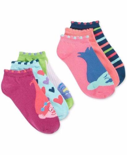 Dreamworks Trolls Womens 6-Pack Socks-Shoe Sz4-10 Multi-Color Socks-D8299H