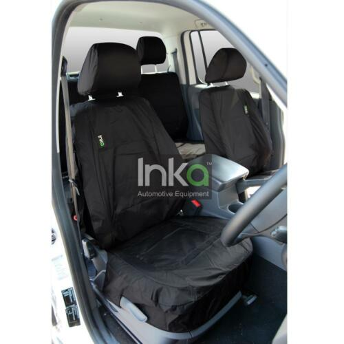 VW Amarok Pick Up Truck Inka Fully Tailored Front Waterproof Seat Covers Black