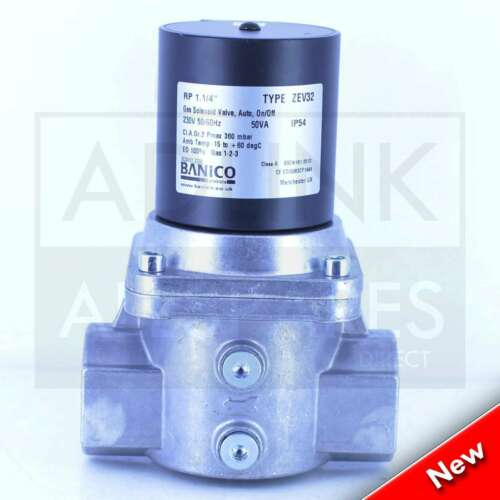 "ZEV32 Gas Interlock Solenoid Valve For Commercial Kitchens 1-1//4"" BSP 35mm"