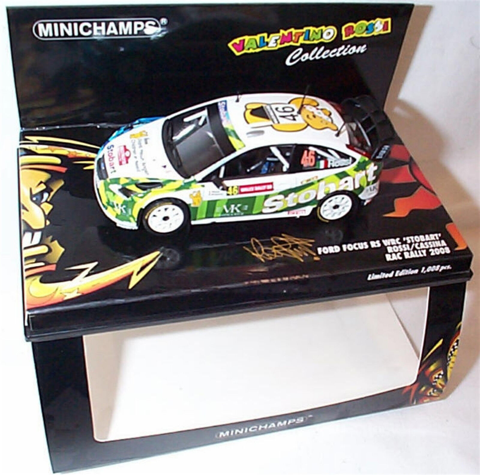 Ford Focus RS WRC Stobart Valentino Rossi Rac Rally 2008 ltd ed Mib 400088146