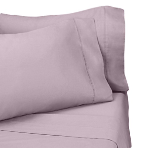 300 Thread Count Percale Sheet Sets, 100% Egyptian Cotton 4 Piece Sheet Set One