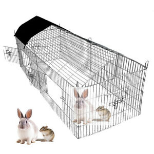 1-8m-Pet-Rabbit-Run-Play-Pen-Guinea-Pig-Playpen-Chicken-Puppy-Cage-Hutch-DCUK