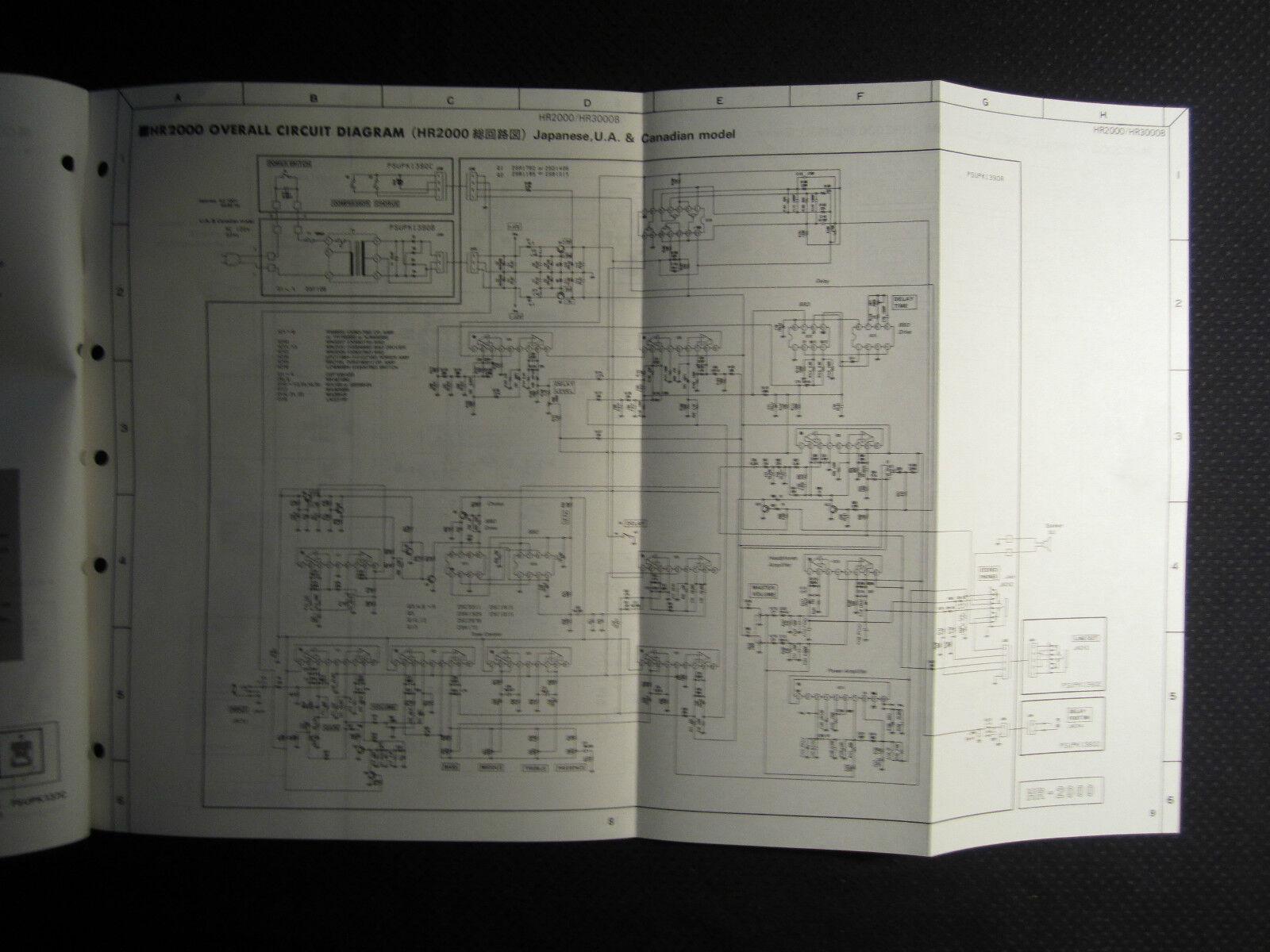 Original Yamaha Hr2000 Hr3000b Guitar Bass Amplifier Service Manual Fc5 Pedal Wiring Diagram Ebay