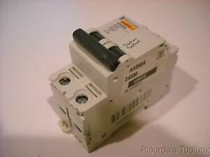 New 10 amp Merlin-Gerlin Multi-9 Circuit Breaker, 2P, C60N-C10, 24336