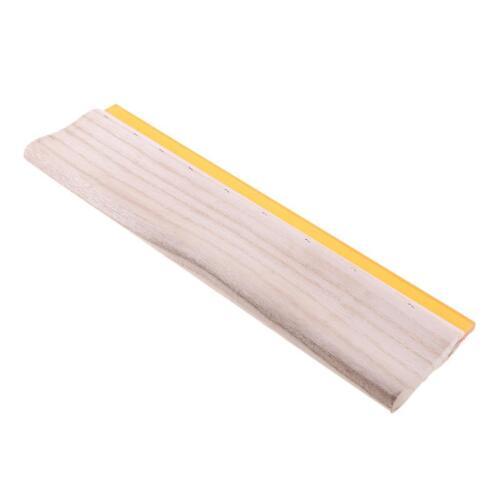 38cm 75° Silk Craft Screen Printing Squeegee Wooden Handle Ink Scraper Blade