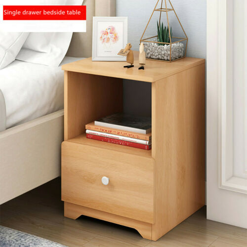 Nightstand Bedroom End Table Bedside Table Storage Furniture Cabinet,w//Drawer