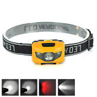 3W Super Bright 3 LED Mini Headlamp Headlight Flashlight Torch Lamp Light 4-mode