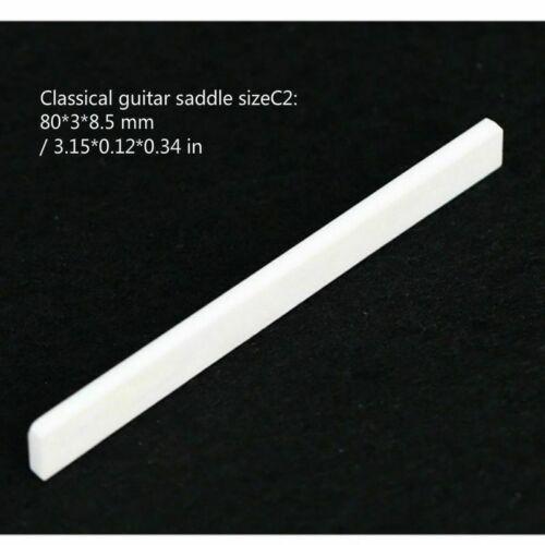 2 X Gitarrensaiten Saitenreiter Sattel Rinder Knochen Gitarre Akustische Folk