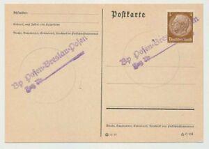Deutsches-Reich-Bahnpost-L2-POSEN-BRESLAU-POSEN-Zug-Nr-47458
