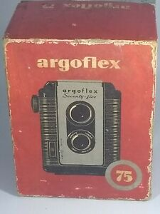 Vintage Argus Argoflex Seventy-five 75 Box Camera and Case Art Deco Argoflex