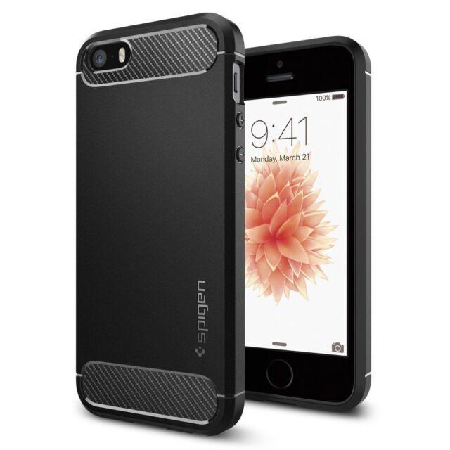 IPhone SE/5S/5 Spigen rugged armor case-noir
