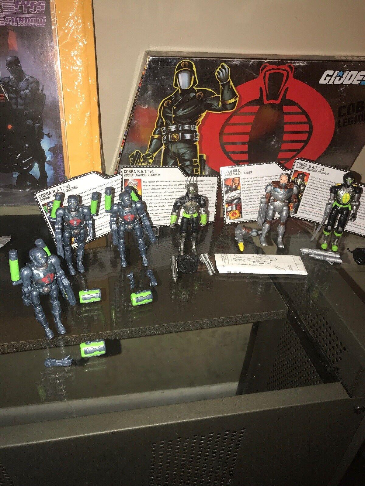 G.I. Joe BAT Attack Set 2005 BAT V5 v16, BAT V4 v15, BAT V3 v14, Over Kill v7