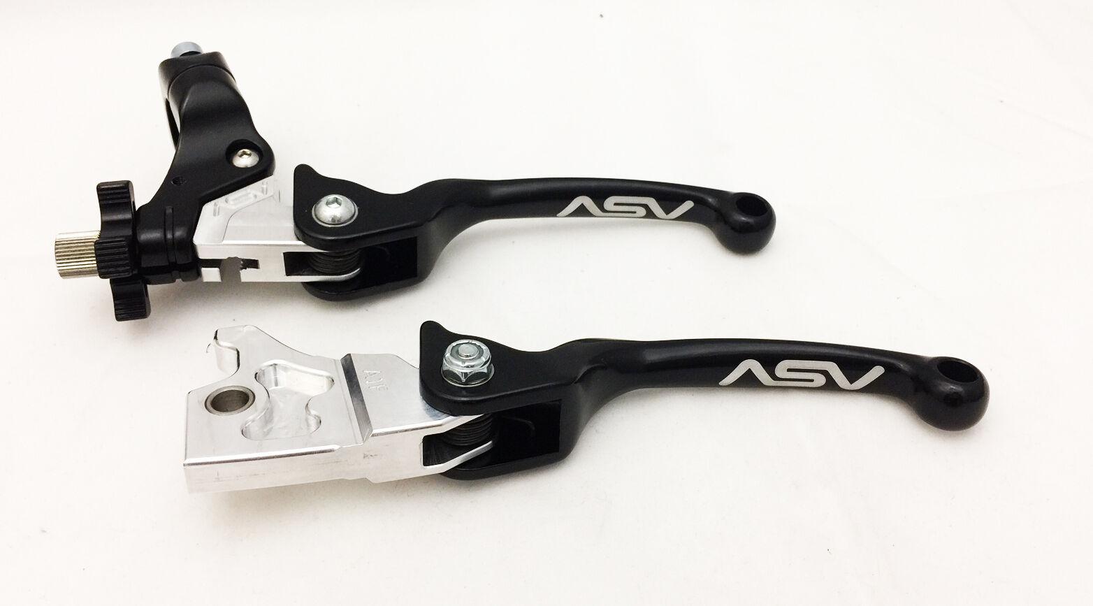 Asv Asv Asv Unzerbrechlich F3 Schwarz Paar Pack Faltbarer Bremse+Kupplungshebel Set 00a418