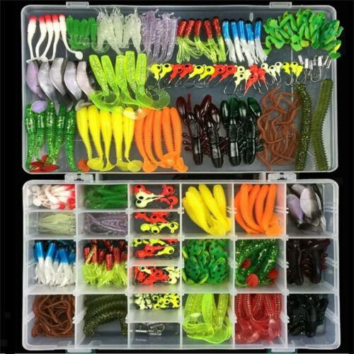 316pcs Soft Fishing Lure Bait /& Jig Head Hook for Saltwater//Freshwater