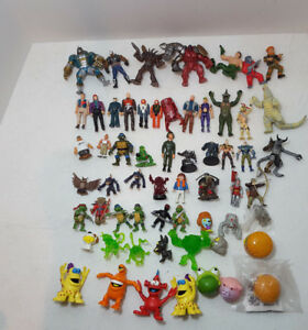 Lot-of-59-Vintage-Mini-Action-Figures-Spawn-TMNT-MASK-Ben10-amp-More