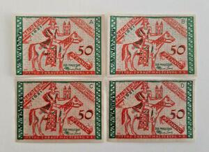 MAGDEBURG-NOTGELD-4x-50-PFENNIG-1921-EMERGENCY-MONEY-GERMANY-BANKNOTES-11636