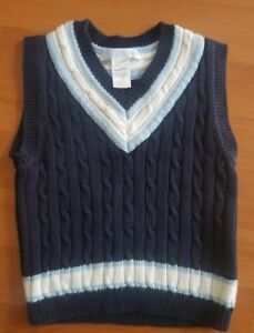 011f9cca8168 Janie And Jack 18-24 M Toddler Boys Sweater Vest Cable Knit Navy ...
