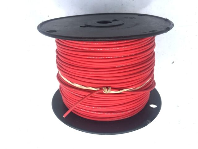 """22 AWG Gauge Stranded Hook Up Wire Red 100 ft 0.0253/"""" UL1015 600 Volts"""