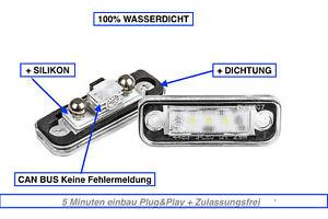 2x-LED-Eclairage-pour-Plaque-D-039-Immatriculation-Mercedes-Classe-E-W211-Soude-500