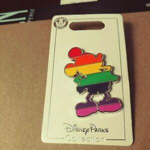 Disney-Parks-Authentic-Gay-Pride-Rainbow-Mickey-Figurine-Pin-New