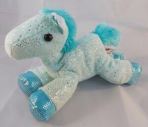 Aurora-Horse-Pony-Teal-Green-Plush-6-034-Glitter-Stuffed-Animal