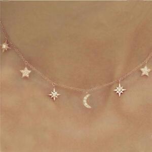 56620d2982f00 Details about Fashion Crescent Moon Star Boho Choker Bib Statement Choker  Necklace Pendant