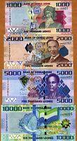 SET Sierra Leone, 1000;2000;5000;10000 Leones, 2010, P-30;31;32;33 UNC