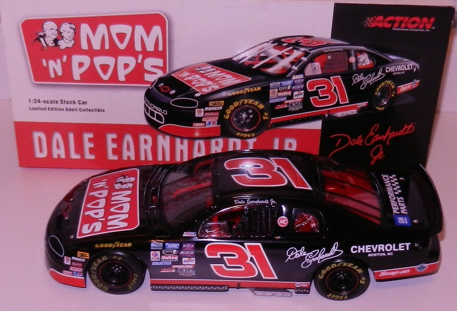Dale Earnhardt Jr 1996 MOM' N 'POPS 1/24 CWC Action Limited Edition RARE