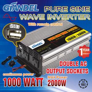 Pure-Sine-Wave-Power-Inverter-1000W-2000W12V-240V-Remote-Control-for-RV-Camping