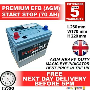 005R-072-EL604-STOP-START-12V-70AH-EFB-AGM-BATTERY-HEAVY-DUTY-NEXT-DAY-DELIVERY