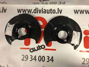 BMW-E36-Splash-Panel-brake-disc-Front-Axle-LEFT-and-RIGHT-set-NEW