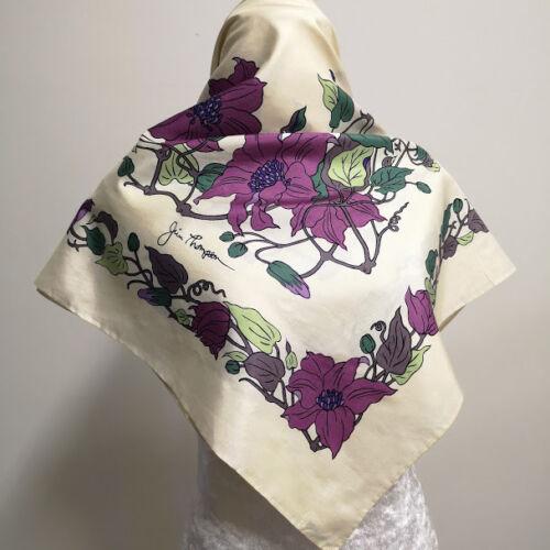 Jim Thompson Square Scarf Wrap Women Ivory Violet