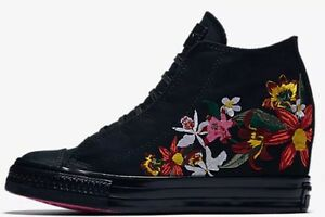 Details about Converse PatBo Black Floral Pink High Chuck Taylor All Star LUX Mid Sz 6.5 NEW