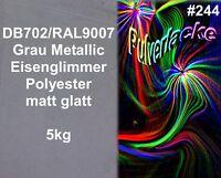 Pulverlack 5kg Beschichtungspulver Db702 Ral9007 Grau Metalli Pulverbeschichtung