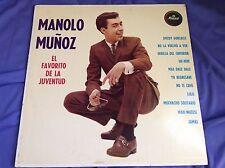 Rare Latin Rock N Roll LP : Manolo Munoz ~ El Favorito de la Juventud ~ Musart