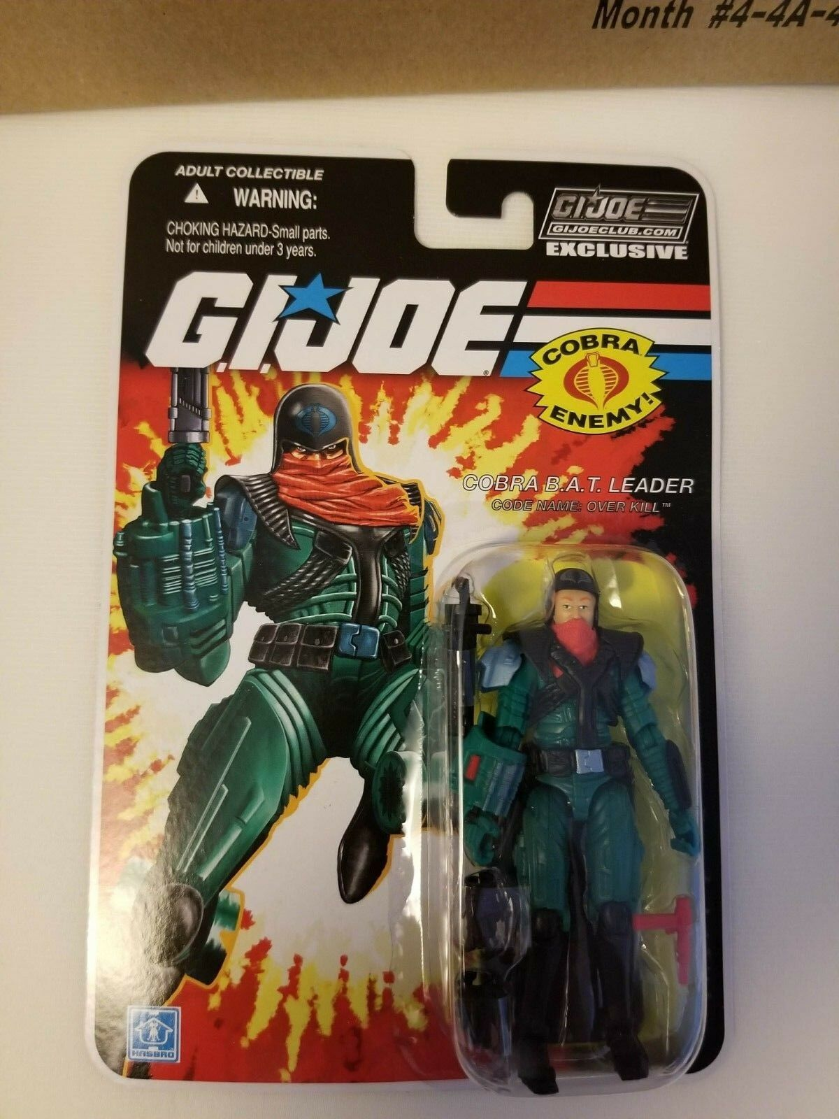 G.I.JOE Collector's Club EXCLUSIVE FSS 8.0 Overkill Cobra BAT leader MOC