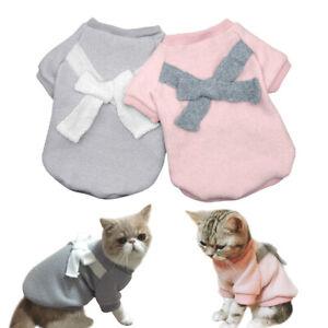 Pull-sweat-molletonne-chaud-pour-petit-chien-ou-chat-Vetement-manteau-Gris-Rose
