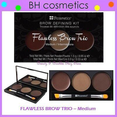 ❤️⭐ NEW BH Cosmetics 😍🔥👍 FLAWLESS EYE BROW TRIO 💎💋 Medium Defining Kit BNIB