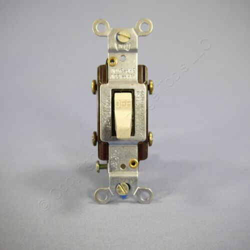 New Eagle Gray COMMERCIAL Grade DOUBLE POLE Toggle Light Switch 15A Bulk CS215GY