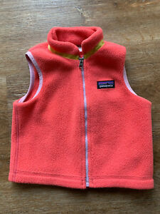 Patagonia Baby Girl Synchilla Fleece Vest Size 6 12 Months