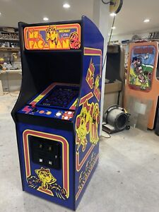 New Ms. PacMan Arcade Machine With Trackball! Upgraded