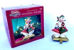 Superb Details Zu Vintage Santas Workbench Stocking Hanger Holder Cast Iron Base Christmas Bears Pabps2019 Chair Design Images Pabps2019Com