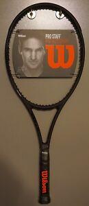 Avoir Un Esprit De Recherche Nouveau Wilson Pro Staff 97 Autographe Roger Federer Rf97 4 1/2 L4 Raquette Noir-afficher Le Titre D'origine