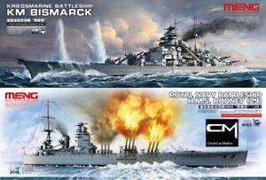 Meng-Model-PS-003-PS-001-cuirasses-Bismarck-amp-HMS-Rodney-1-700-Kit-Paquet