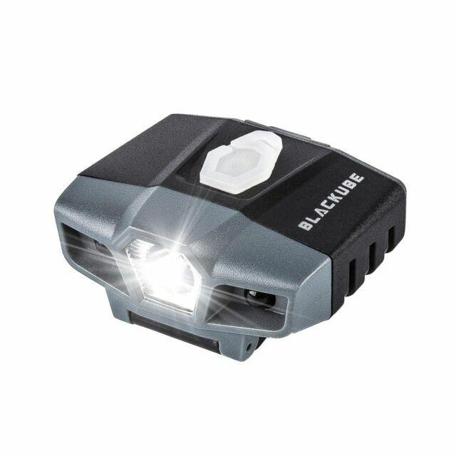 Rechargeable Mini Hands Free LED Clip Cap Light 100 Lumens Cap Lights New Gray