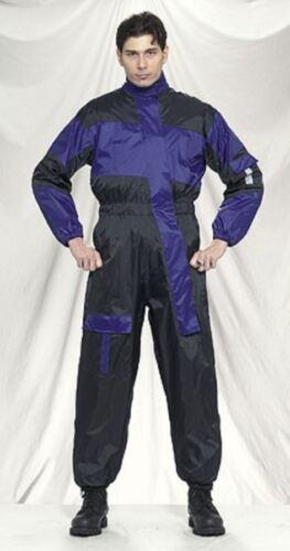 Motorcycle One Piece Rain Suit Blue Biker Reflective Waterproof//Windproof Gear