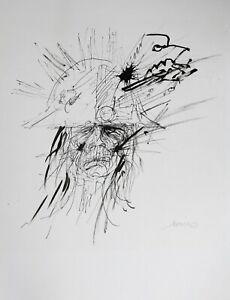 Jacques-Pecnard-1922-2012-Soldat-Zeichnung-Tinte-Vincenne-Montmorency-Napoleon